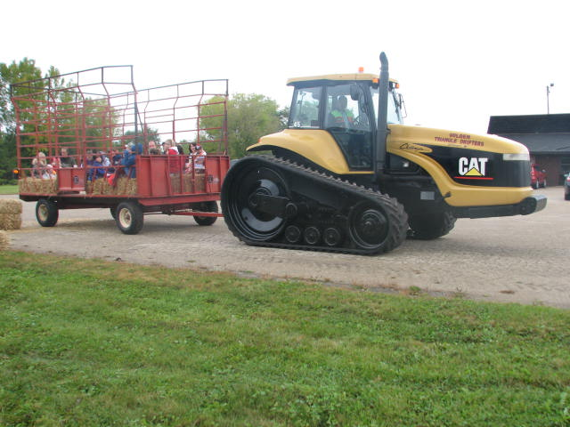 Club Cat during our Annual Hayride